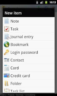 B-Folders Password Manager - screenshot thumbnail