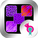 Purple Animal Prints Wallpaper icon