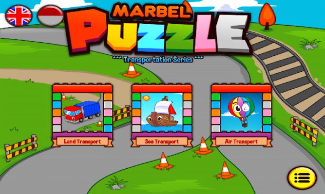 Marbel Puzzle (Transportation) - screenshot