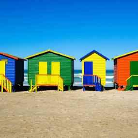 Beach Cubicles by Charel Schreuder - Buildings & Architecture Other Exteriors ( colourful, colorful, south africa, beach cubicles, muizenberg, cape town )