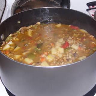 Lentil Barley and Mushroom Soup
