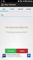 Screenshot of Calculator for Ebay