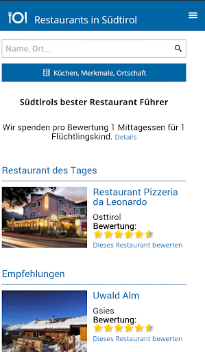 Restaurants in Südtirol