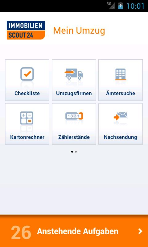 Umzug: Immobilien Scout24 - screenshot