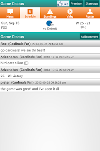 Arizona Football News & Scores - screenshot thumbnail