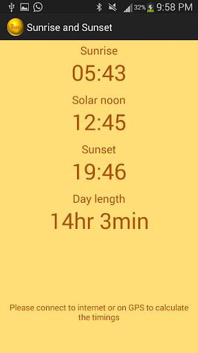 日出与日落时间