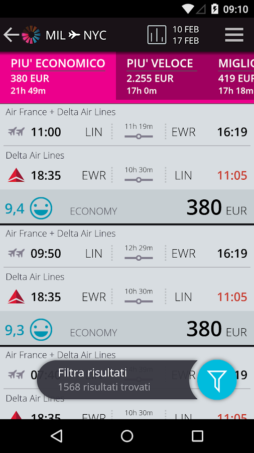 momondo Voli e Viaggi Low Cost - screenshot