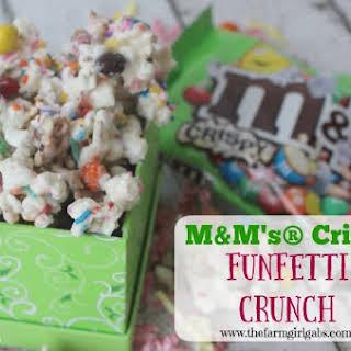 M&M's® Crispy Funfetti Crunch.