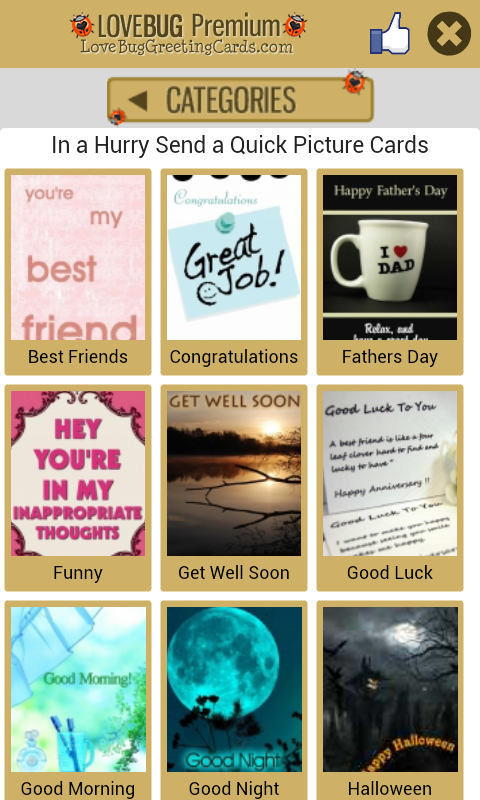 FREE Greeting Cards - screenshot