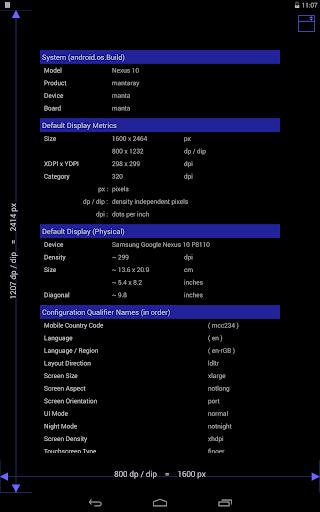 Screen Size DPI And Dev Info