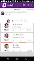Screenshot of LIVE cricket Scores