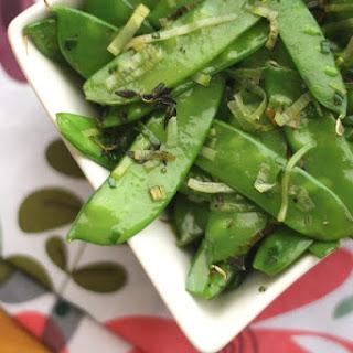 Herbed Snow Peas with Leeks