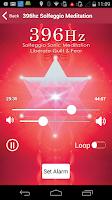 Screenshot of 396 Hz Solfeggio Meditation