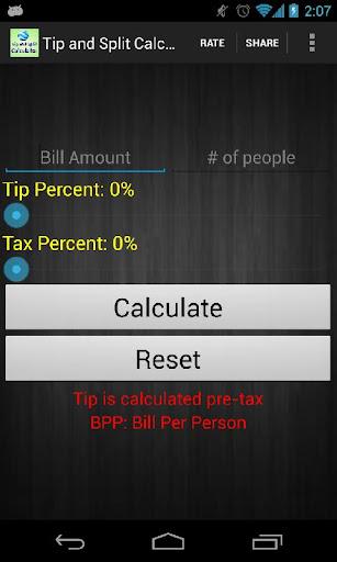 Tip and Split Calculator