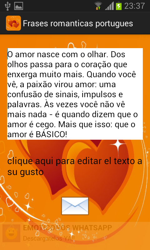 Frases romanticas portugues - screenshot