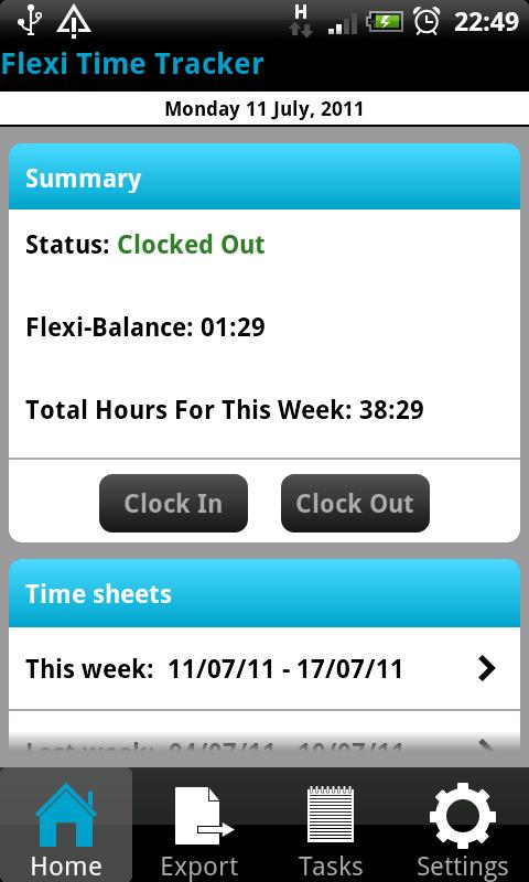 Flexi Time Tracker- screenshot
