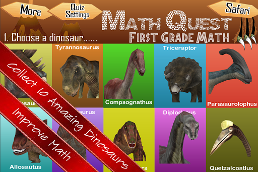 Math Quest Quiz First Grade 1