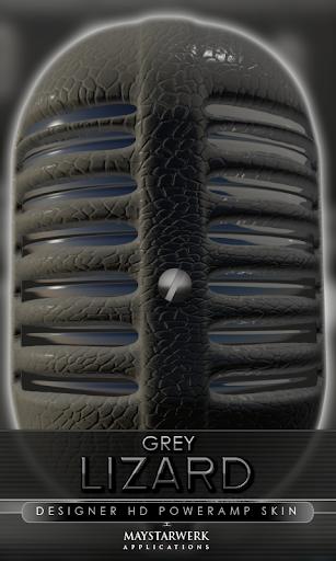 Poweramp skin grey lizard