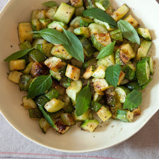 Zucchini with Basil, Mint, and Honey.