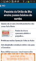 Screenshot of O Globo Notícias