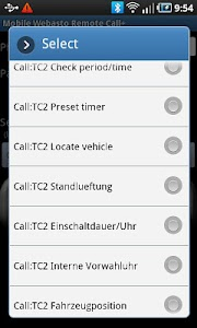 Mobile Webasto Remote CALL+ screenshot 3