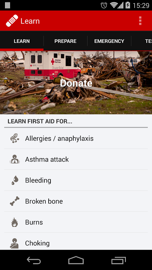 First Aid - American Red Cross - screenshot