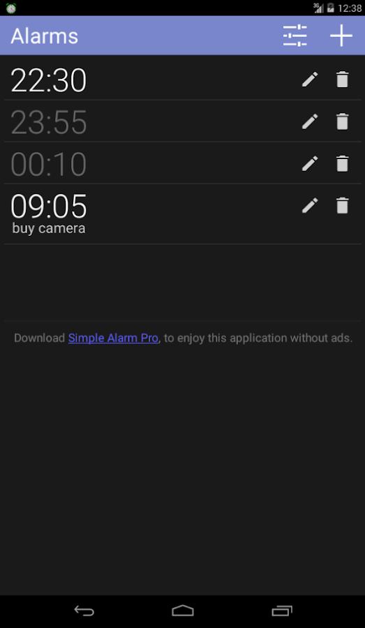 Simple Alarm Clock Free- screenshot
