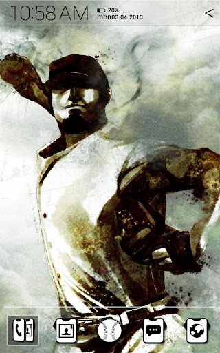 Baseball Illust Atom theme
