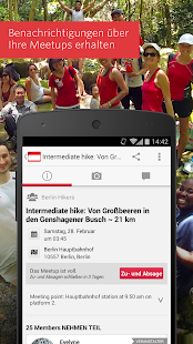 Meetup – Lokale Gruppen - screenshot thumbnail
