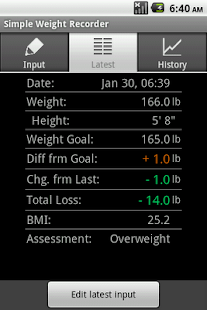 Simple Weight Recorder - screenshot thumbnail