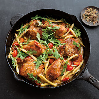Summer Chicken Braise with Wax Beans and Tomatoes