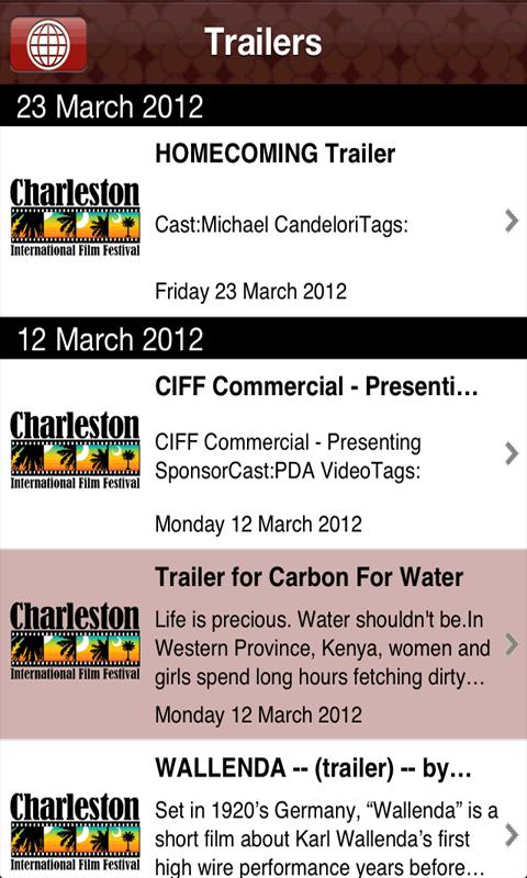 Charleston International Film - screenshot