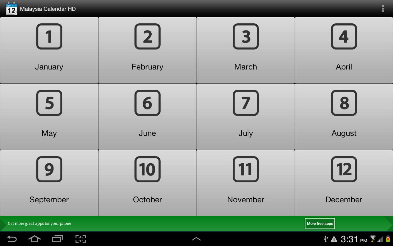 2013 Malaysia Calendar HD - screenshot