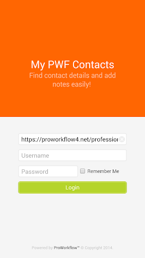 PWF Contacts