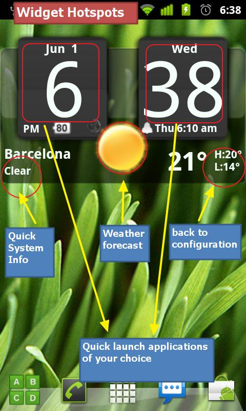 FlipClock BlackOut Widget 4x2- screenshot