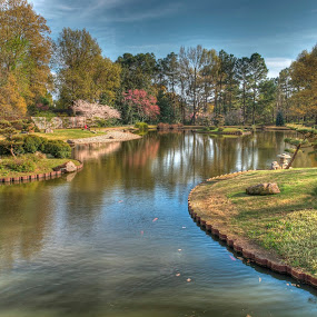 Tranquillity by Ajit Pillai - City,  Street & Park  City Parks ( water, japan, peace, trees, garden,  )