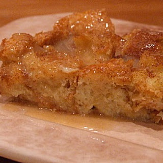 Irish Bread Pudding with Caramel- Whiskey Sauce.