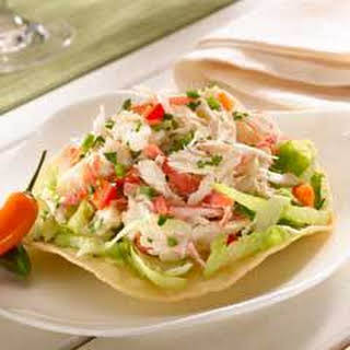 Tostadas With Crabmeat Salad.