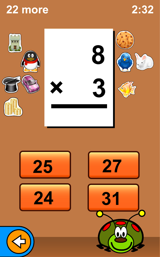 Bugaboo Math Flash Cards - screenshot