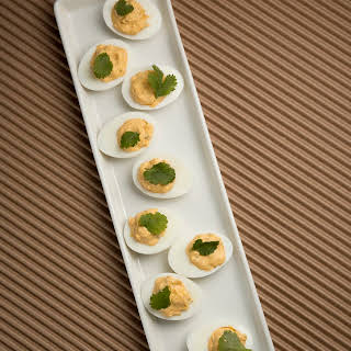 Mario Batali's Fiery Chipotle Deviled Eggs.
