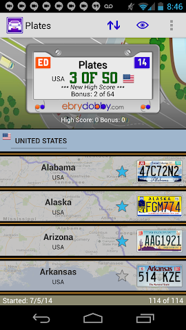 android Plates Family Travel Game Screenshot 3