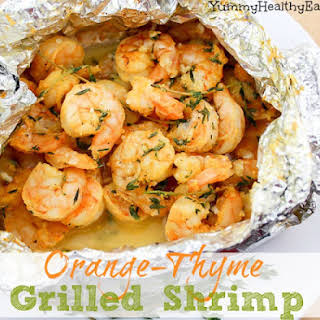 Orange-Thyme Grilled Shrimp {in foil packets}.