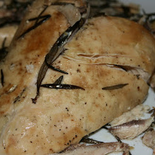 Lemon and Herb CrockPot Roasted Chicken.