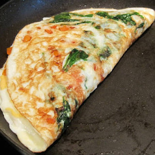 how to make spring onion omelette