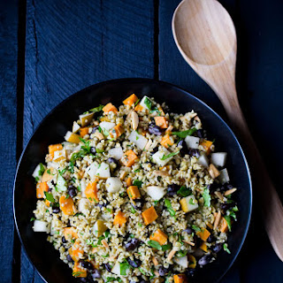 Freekeh Salad with Sweet Potatoes and Pears