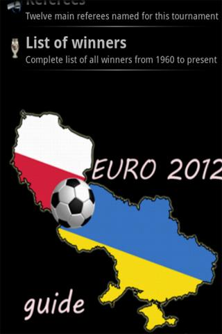 Euro 2012 Guide - screenshot