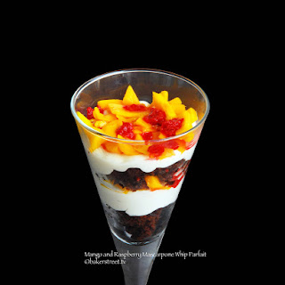 Mango and Raspberry Mascarpone Whip Parfait.