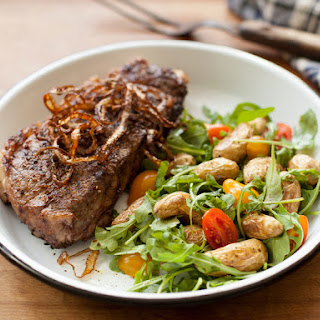 Grilled Strip Steak with Balsamic Marinade.