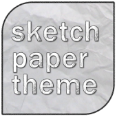 Sketch Paper Go launcher Theme