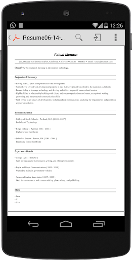 لالروبوت Super Resume Builder Pro, CV تطبيقات screenshot
